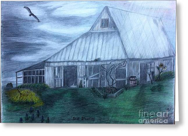 Old Barn Pastels Greeting Cards - Im Still standing- Elton John Greeting Card by Joyce Lawhorn