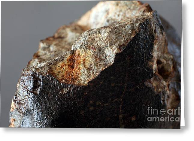 Reform Greeting Cards - Stone Meteorite Fragment Greeting Card by Detlev van Ravenswaay