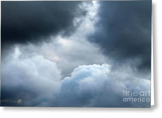 Storm Prints Digital Art Greeting Cards - Storm Clouds Greeting Card by J McCombie
