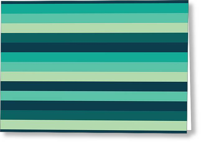 Geometric Style Greeting Cards - Striped Pattern Greeting Card by Mike Taylor