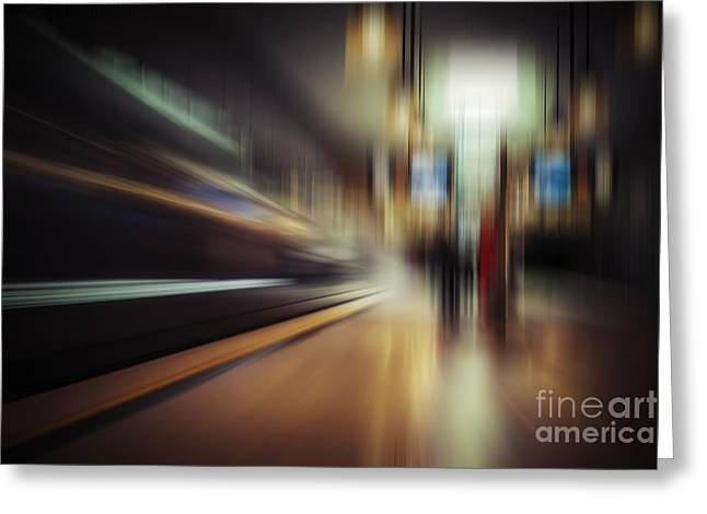 Greeting Cards - Subway Impressions Greeting Card by Martin Dzurjanik