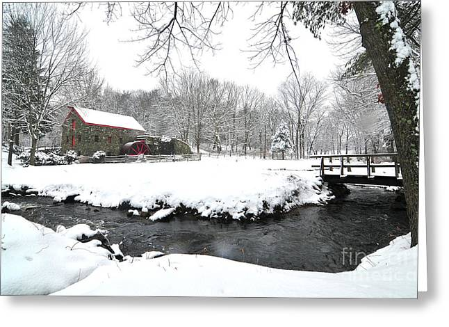 Grist Mill Greeting Cards - Sudbury Grist Mill Greeting Card by Catherine Reusch  Daley