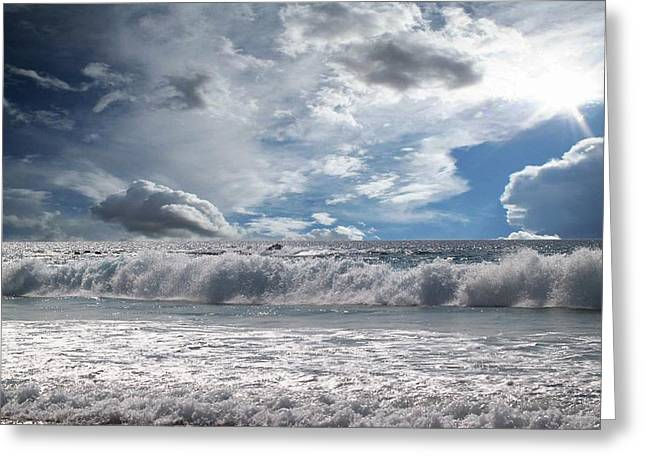 Ocean Images Greeting Cards - Sunlight Greeting Card by Athala Carole Bruckner