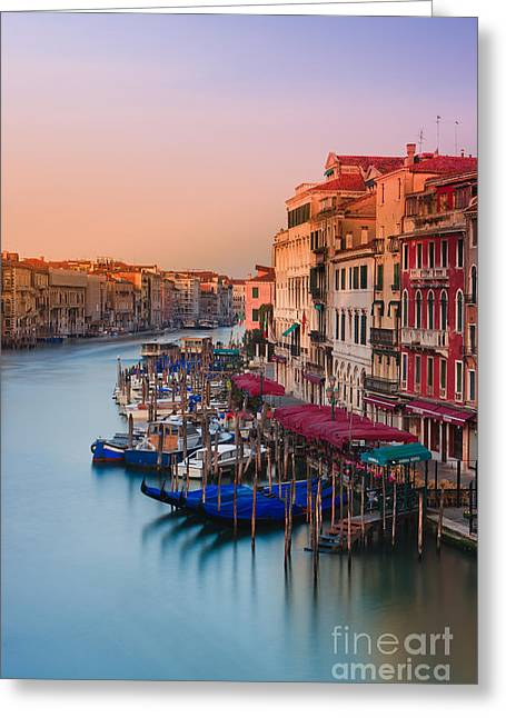 Old City Prints Greeting Cards - Sunrise in Venice Greeting Card by Henk Meijer Photography