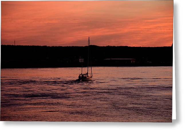 Scusset Beach. Greeting Cards - Sunset Greeting Card by Brian Mooney