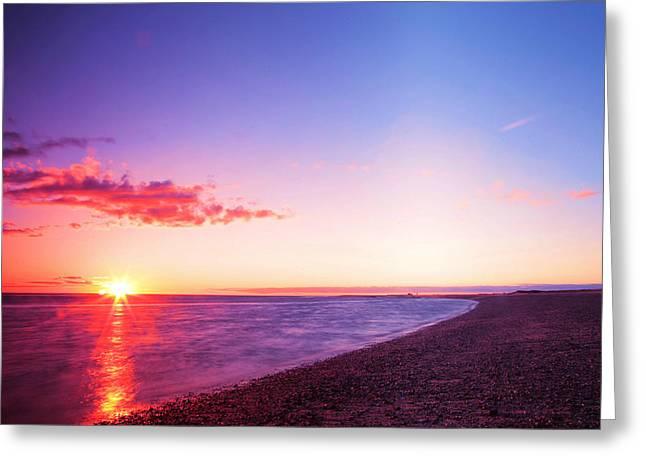 Boston Ma Greeting Cards - Sunset in Cape Cod Boston Massachusetts Greeting Card by Paul Ge