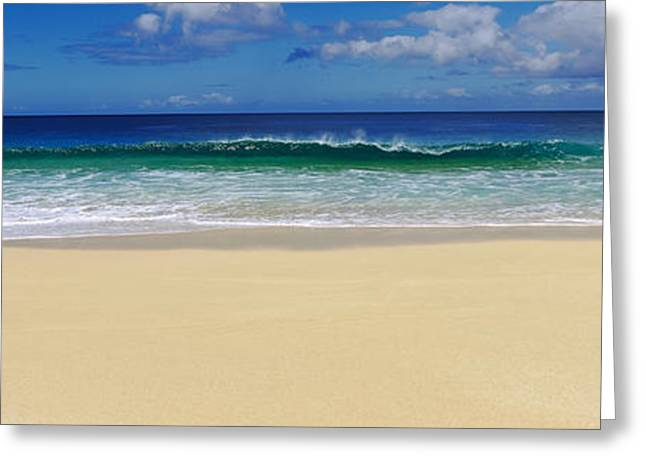 Ocean Photography Greeting Cards - Surf On The Beach, Oahu, Hawaii, Usa Greeting Card by Panoramic Images