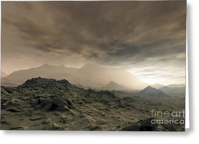 Carbon Dioxide Greeting Cards - Surface Of Venus, Artwork Greeting Card by Detlev van Ravenswaay