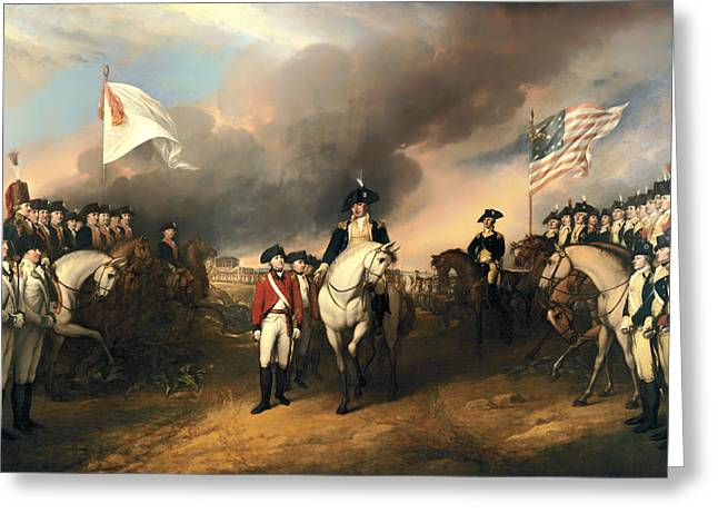 Surrender Of Lord Cornwallis Greeting Card by Mountain Dreams