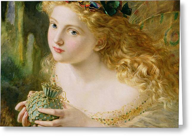 Take the Fair Face of Woman Greeting Card by Sophie Anderson