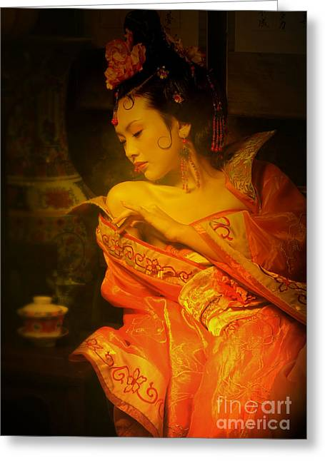 Concubine Photographs Greeting Cards - Tang Dynasty Greeting Card by David Jackson