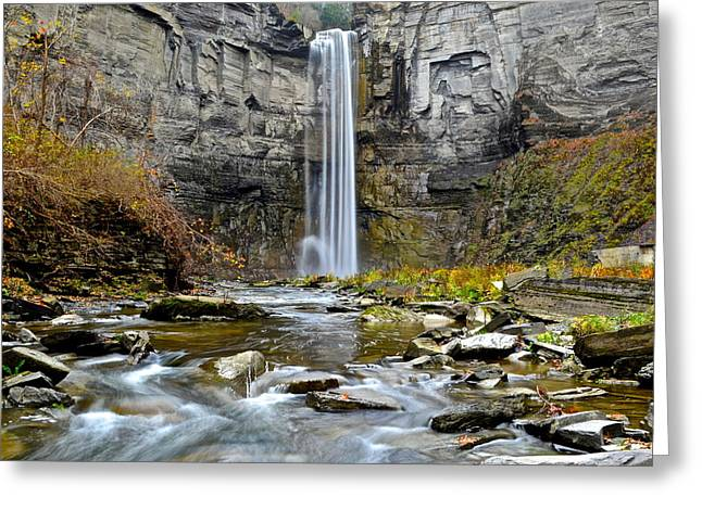 Mesmerizing Greeting Cards - Taughannock Falls Greeting Card by Frozen in Time Fine Art Photography