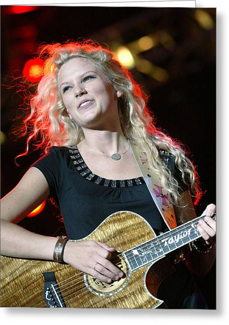 Nashville Songwriters Hall Of Fame Greeting Cards - Taylor Swift Greeting Card by Don Olea