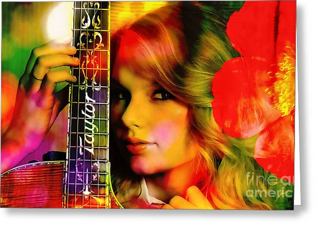 Martonistudios.com Greeting Cards - Taylor Swift Painting Greeting Card by Marvin Blaine