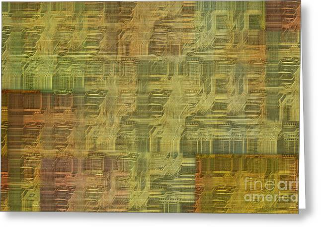 Component Greeting Cards - Technology Abstract Background Greeting Card by Michal Boubin