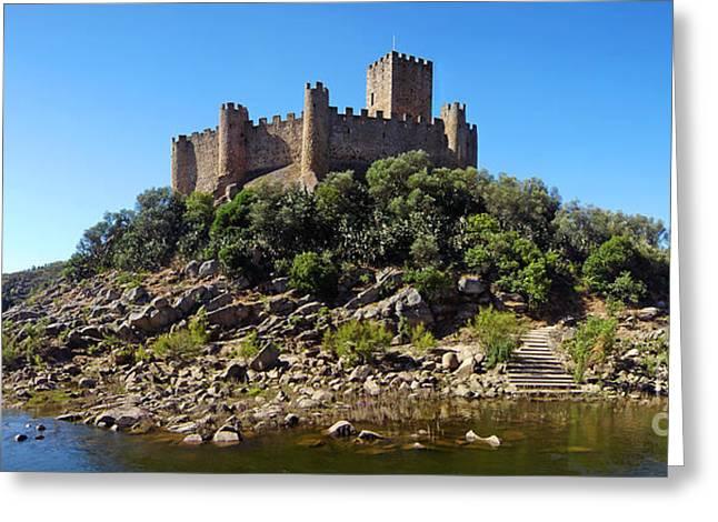 Knights Castle Greeting Cards - Templar Castle of Almourol Greeting Card by Jose Elias - Sofia Pereira