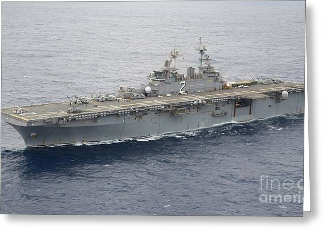 Uss Essex Greeting Cards - The Amphibious Assault Ship Uss Essex Greeting Card by Stocktrek Images
