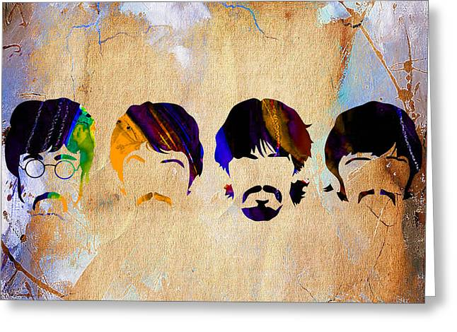 Paul Mccartney Greeting Cards - The Beatles Collection Greeting Card by Marvin Blaine