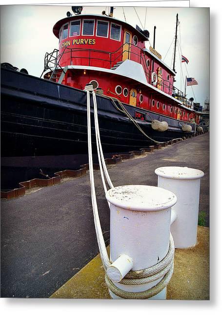 Fireboat Framed Prints Greeting Cards - The Big Red Tug Greeting Card by Carol Toepke