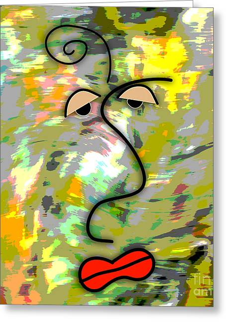 Picasso Greeting Cards - The Face Greeting Card by Marvin Blaine