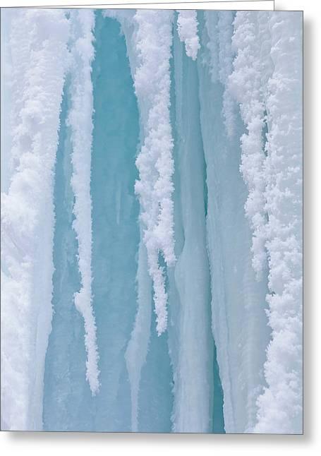 The Frozen Schleierfaelle (veil Falls Greeting Card by Martin Zwick