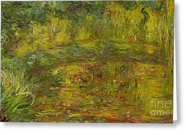 Weeping Greeting Cards - The Japanese Bridge Greeting Card by Claude Monet