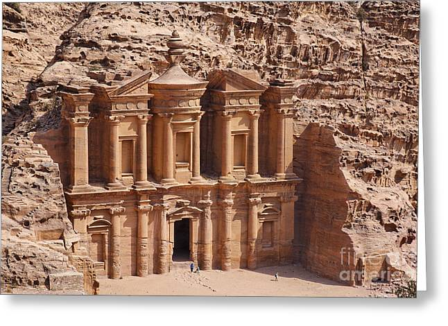 Jordan Photographs Greeting Cards - The Monastery at Petra in Jordan Greeting Card by Robert Preston