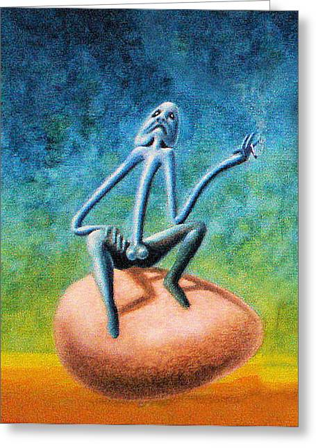 Philosophizing Mixed Media Greeting Cards - The Philosopher Greeting Card by Genio GgXpress