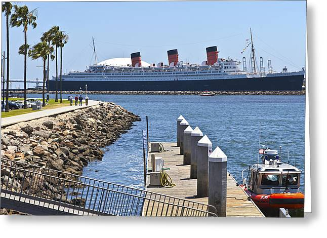 Recently Sold -  - Power Plants Greeting Cards - The Queen Mary Long Beach California. Greeting Card by Gino Rigucci