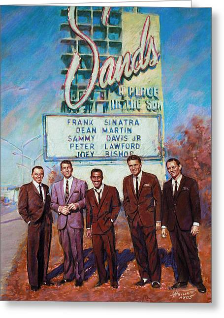 Martin Greeting Cards - The Rat Pack Greeting Card by Viola El
