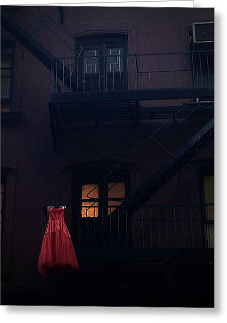 Times Square Digital Greeting Cards - The Red Gown Greeting Card by Natasha Marco