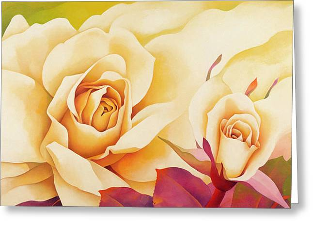 Rose Petals Greeting Cards - The Rose, 2001 Oil On Canvas Greeting Card by Myung-Bo Sim