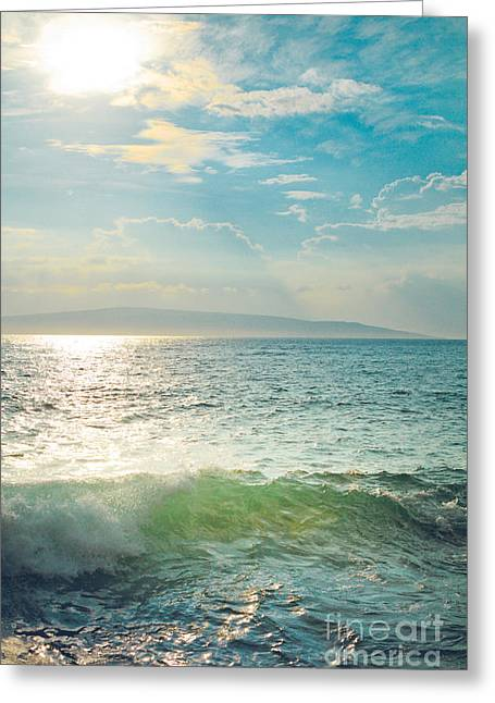 Honuaula Greeting Cards - The Sea Greeting Card by Sharon Mau