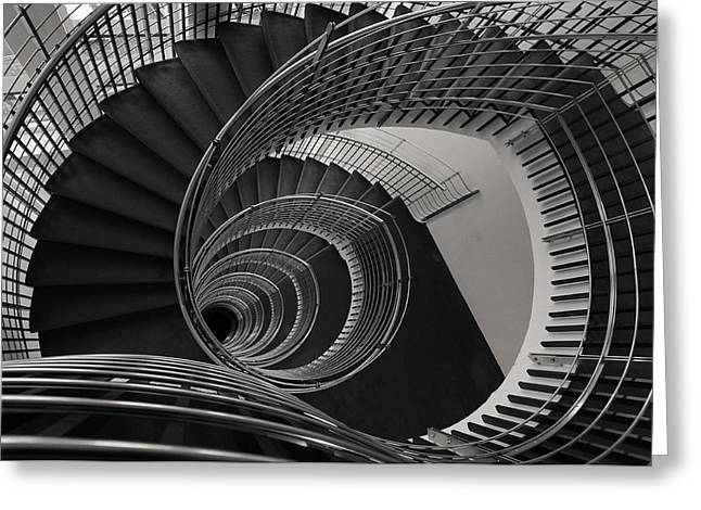 Flight Of Stairs Greeting Cards - The Staircase Greeting Card by Roni Chastain