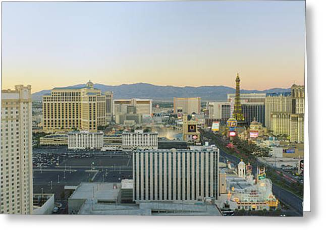 The Strip Greeting Cards - The Strip, Las Vegas, Nevada, Usa Greeting Card by Panoramic Images