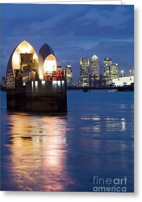 Flooding Greeting Cards - The Thames Flood Barrier Greeting Card by Jeremy Walker