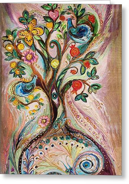 The Tree Of Life Greeting Card by Elena Kotliarker