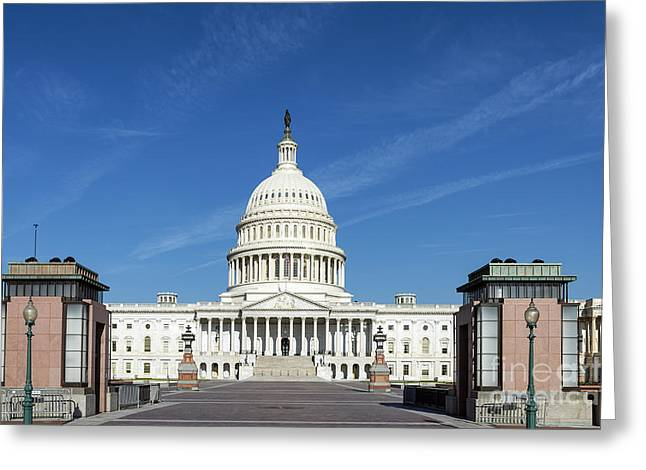 Federal Government Greeting Cards - The United States Capitol Building Greeting Card by John Greim