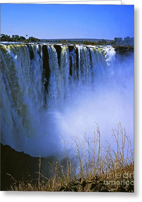 Zimbabwe Greeting Cards - The Victoria Falls Greeting Card by Alex Cassels