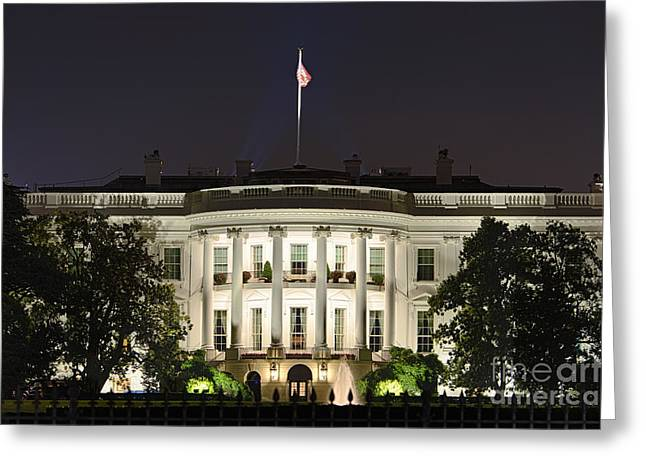 U.s.a. President Greeting Cards - The White House Greeting Card by John Greim
