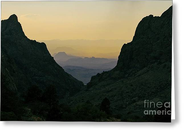 Travelpixpro Greeting Cards - The Window at Sunset in Chisos Mountains of Big Bend National Park Texas Greeting Card by Shawn O