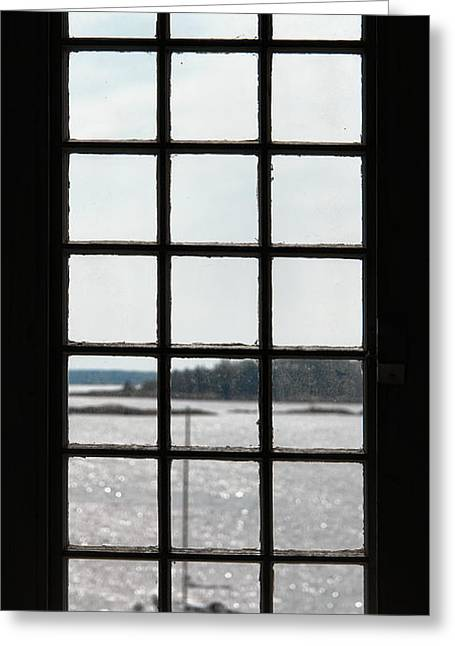 Historic Home Greeting Cards - Through an Old Window Greeting Card by Olivier Le Queinec