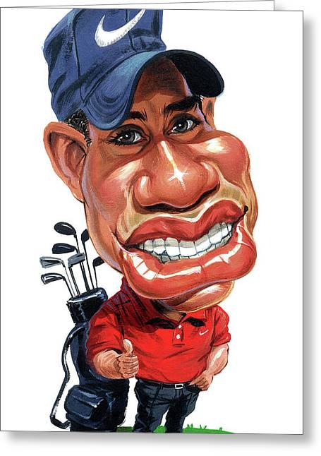 Tiger Woods Greeting Card by Art