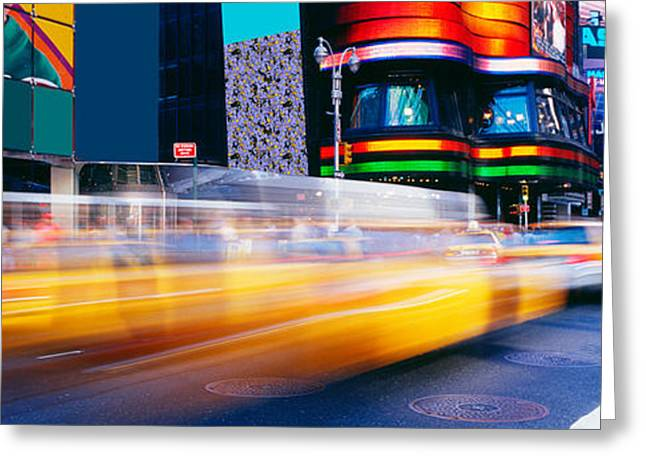 Crosswalk Greeting Cards - Times Square, Nyc, New York City, New Greeting Card by Panoramic Images