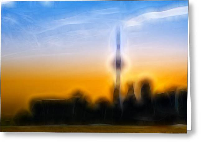 Silhouettes Greeting Cards - Toronto Skyline Greeting Card by Sebastian Musial