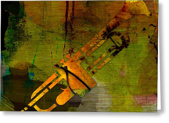 Instrument Greeting Cards - Trumpet Greeting Card by Marvin Blaine