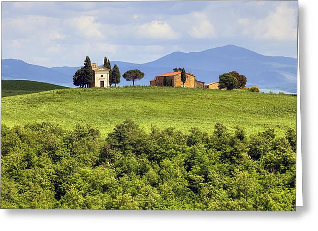 Pienza Greeting Cards - Tuscany - Cappella di Vitaleta Greeting Card by Joana Kruse