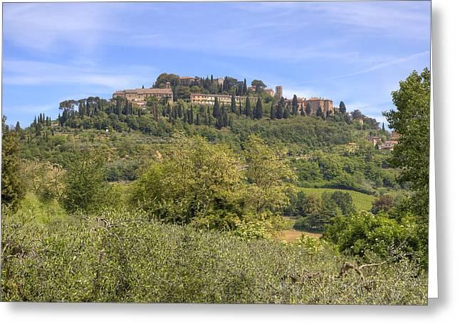 Historic Center Greeting Cards - Tuscany - Montepulciano Greeting Card by Joana Kruse
