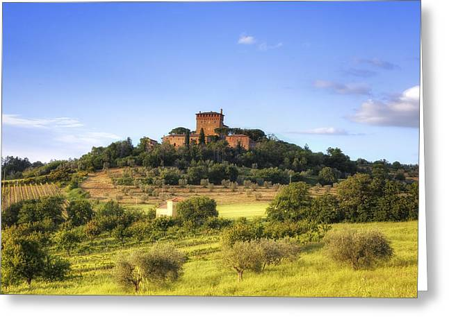 Pienza Greeting Cards - Tuscany - Pienza Greeting Card by Joana Kruse