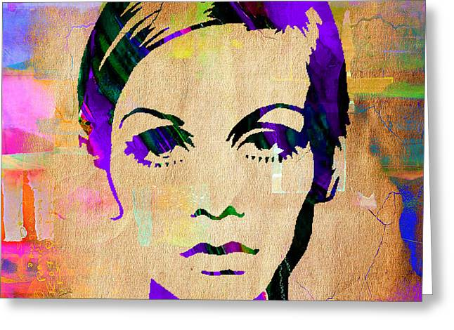 Twiggy Portrait Greeting Cards - Twiggy Collection Greeting Card by Marvin Blaine